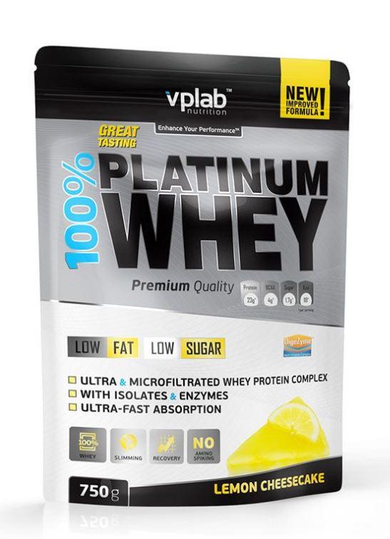 Сывороточный протеин 100% Platinum Whey, вкус «Лимонный чизкейк», 750 гр, VPLab фото