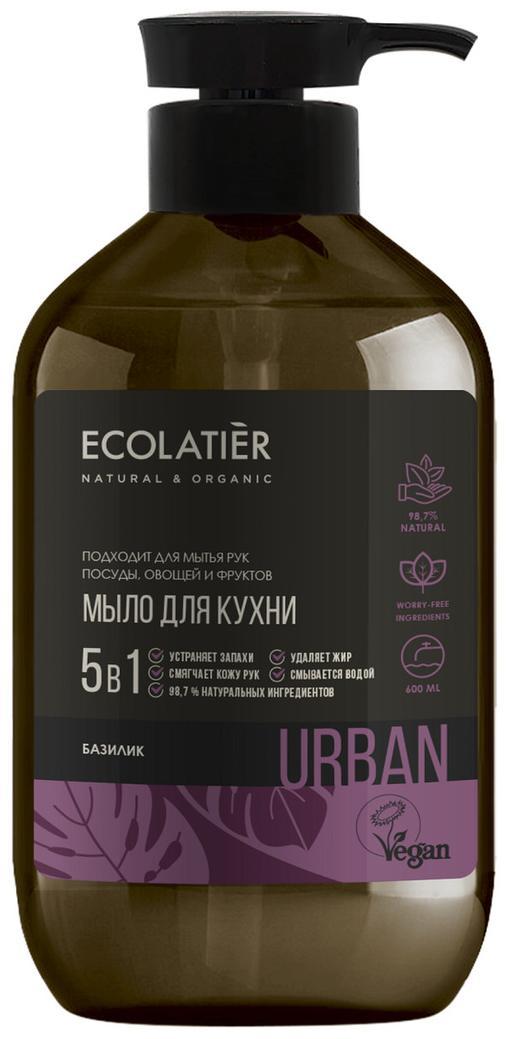 Жидкое мыло для рук БАЗИЛИК кухонное, 600 мл, Ecolatier фото