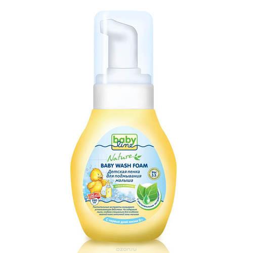 Пенка для подмывания малыша с растительными экстрактом, NATURE, 250 мл+30мл, BABYLINE фото