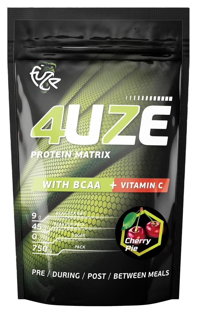 Мультикомпонентный протеин Фьюз 47% + BCAA , вкус «Вишневый пирог», 750 гр, 4UZE фото