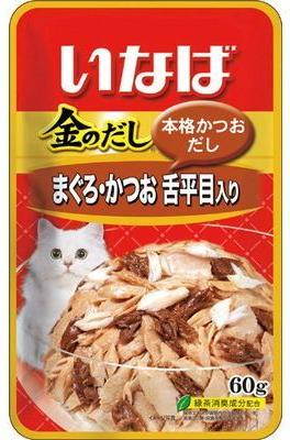 Тихоокеанский палтус с японским тунцом-бонито, 60 гр, Japan Premium Pet фото