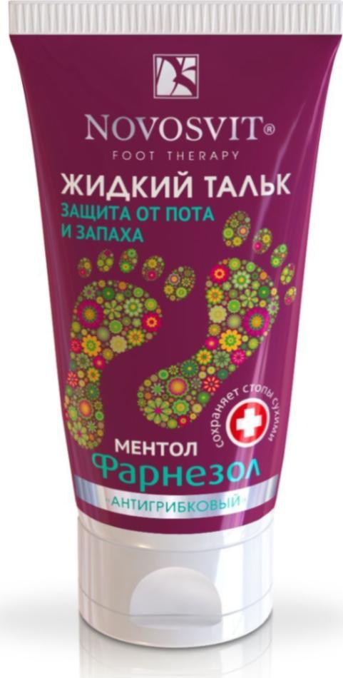 Жидкий тальк от пота и запаха «Фарнезол», 50 мл, Novosvit фото