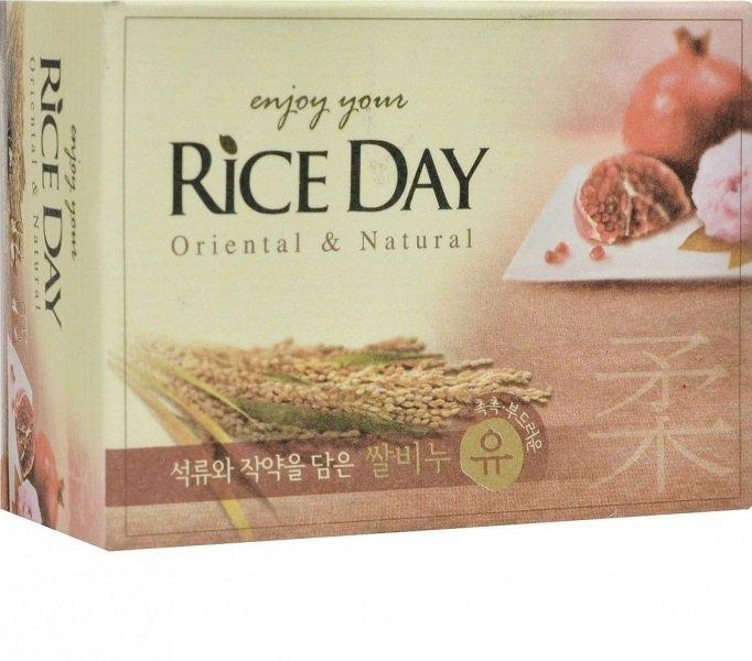 Мыло туалетное Rice Day, экстракт граната и  пиона, 100 гр, CJ Lion