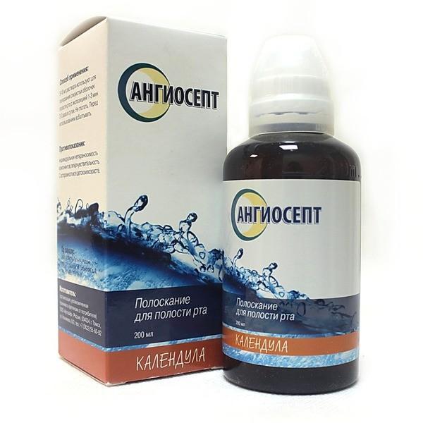 Полоскание для рта с календулой, Ангиосепт,  200 мл, Артлайф