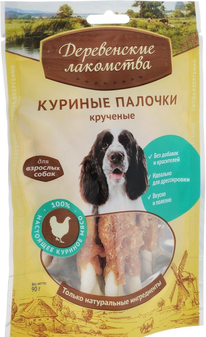 Куриные палочки крученые для взрослых собак, 90 гр, Деревенские лакомства фото