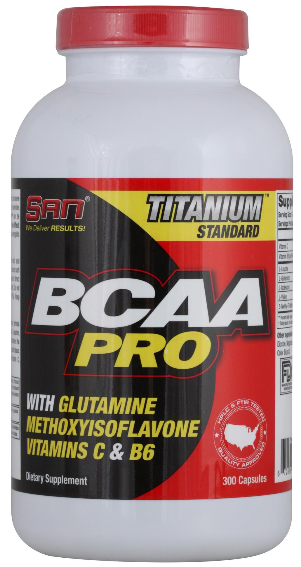 BCAA Pro,  300 капсул, SAN