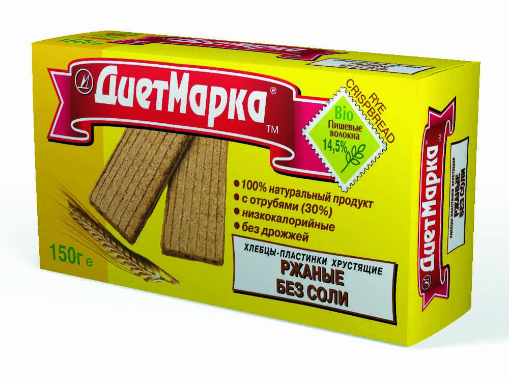 Хлебцы-пластинки хрустящие, ржаные БЕЗ СОЛИ, 150 гр, ДиетМарка фото