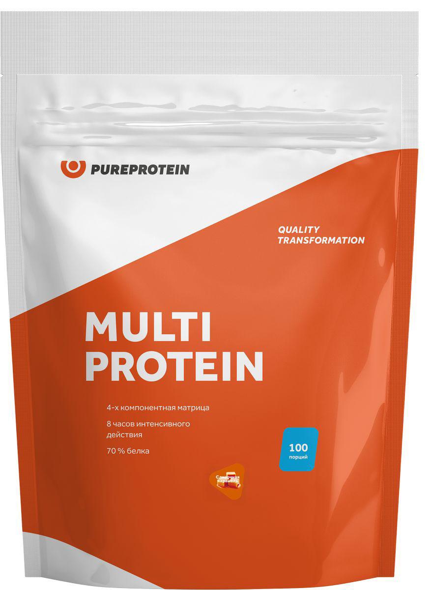 Мультикомпонентный протеин, сливочная карамель, 3 кг, PureProtein фото