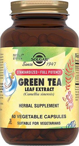 Экстракт листьев зеленого чая, 60 капсул, Solgar