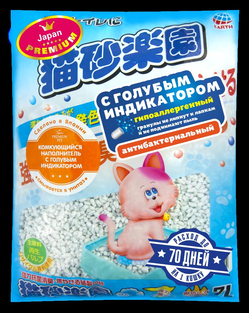 Наполнитель с голубым индикатором, Japan Premium Pet фото