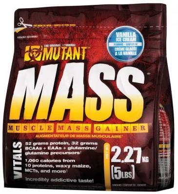 Гейнер Mass, вкус ванильное мороженое, 2270 гр, Mutant фото
