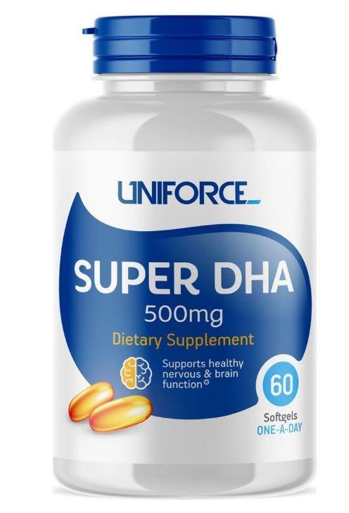 Super DHA, 500 мг, 60 капсул, UNIFORCE фото