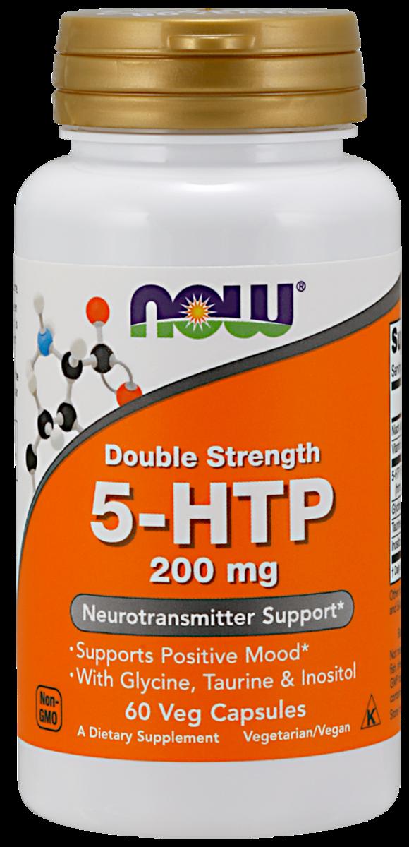 5-НТР, 200 мг, 60 вегетарианских капсул, NOW