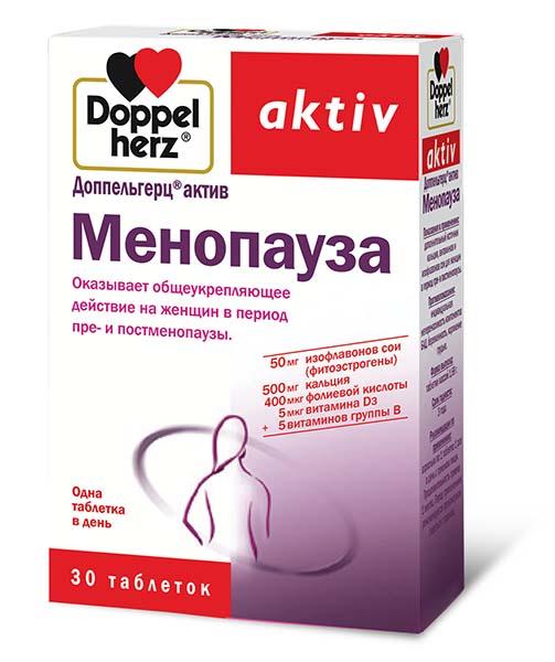 Купить со скидкой Менопауза, 30 таблеток, Доппельгерц Актив