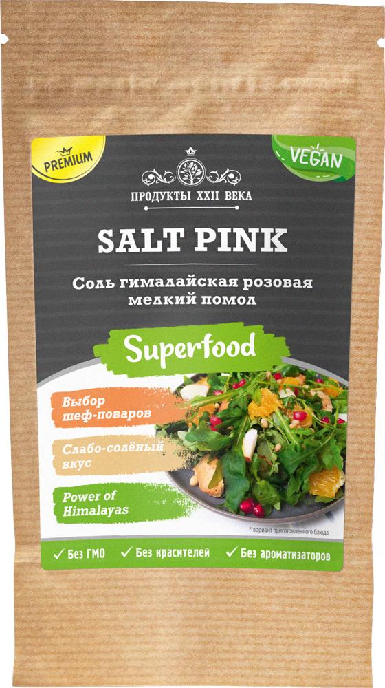 Соль розовая гималайская, мелкий помол 0,5-1 мм, 100 гр, Продукты XXII века фото