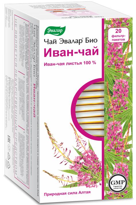 Чай Эвалар БИО Иван-чай, 20 фильтр-пакетов фото