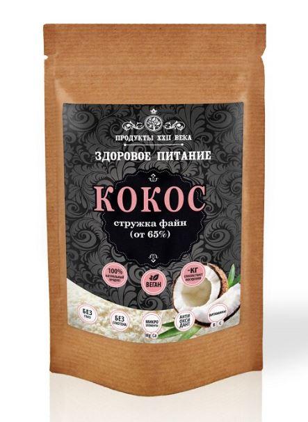 Кокосовая стружка файн (от 65%), 50 гр, Продукты XXII века фото