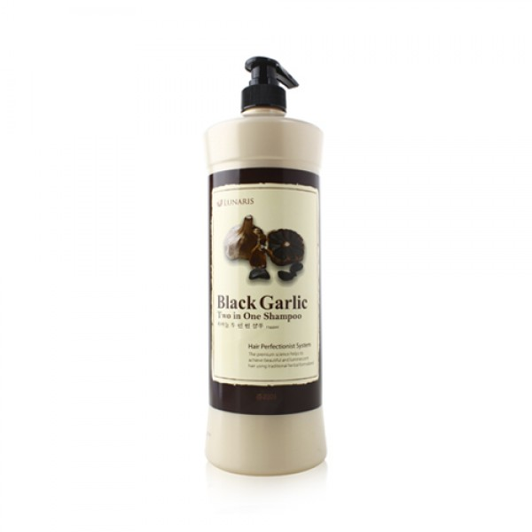 Шампунь для волос 2-в-1 с черным чесноком, 1500 мл, LUNARIS фото