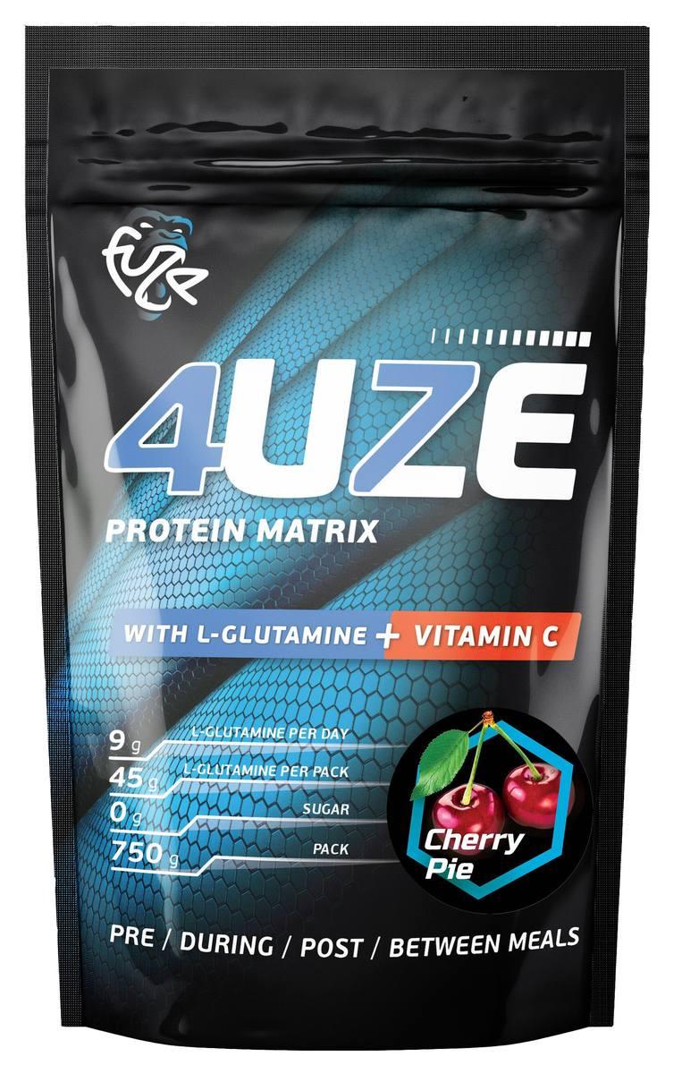 Протеин «Фьюз 47% + глютамин», вкус «Вишневый пирог», 750 гр, 4UZE фото