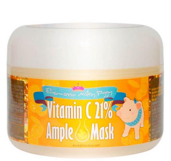 Маска для лица с Витамином C 21% Milky Piggy vitamin C 21% ample mask, 100 мл, Elizavecca фото