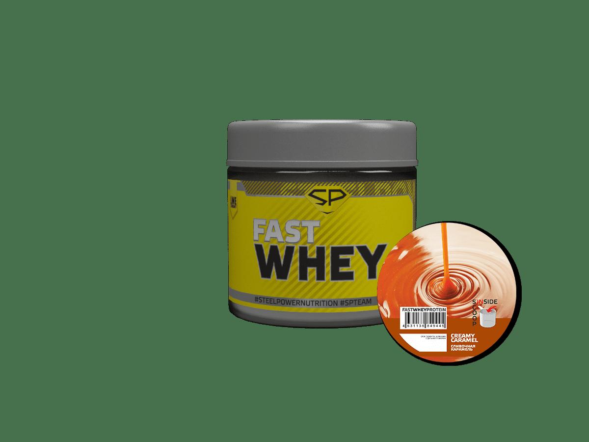 Протеин Fast Whey, 30 гр, пробник, вкус «Сливочная карамель», STEELPOWER фото
