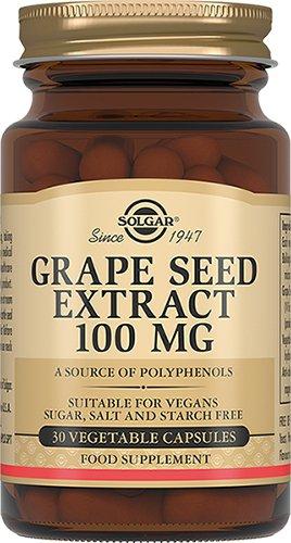 Экстракт виноградных косточек, 30 капсул, Solgar фото