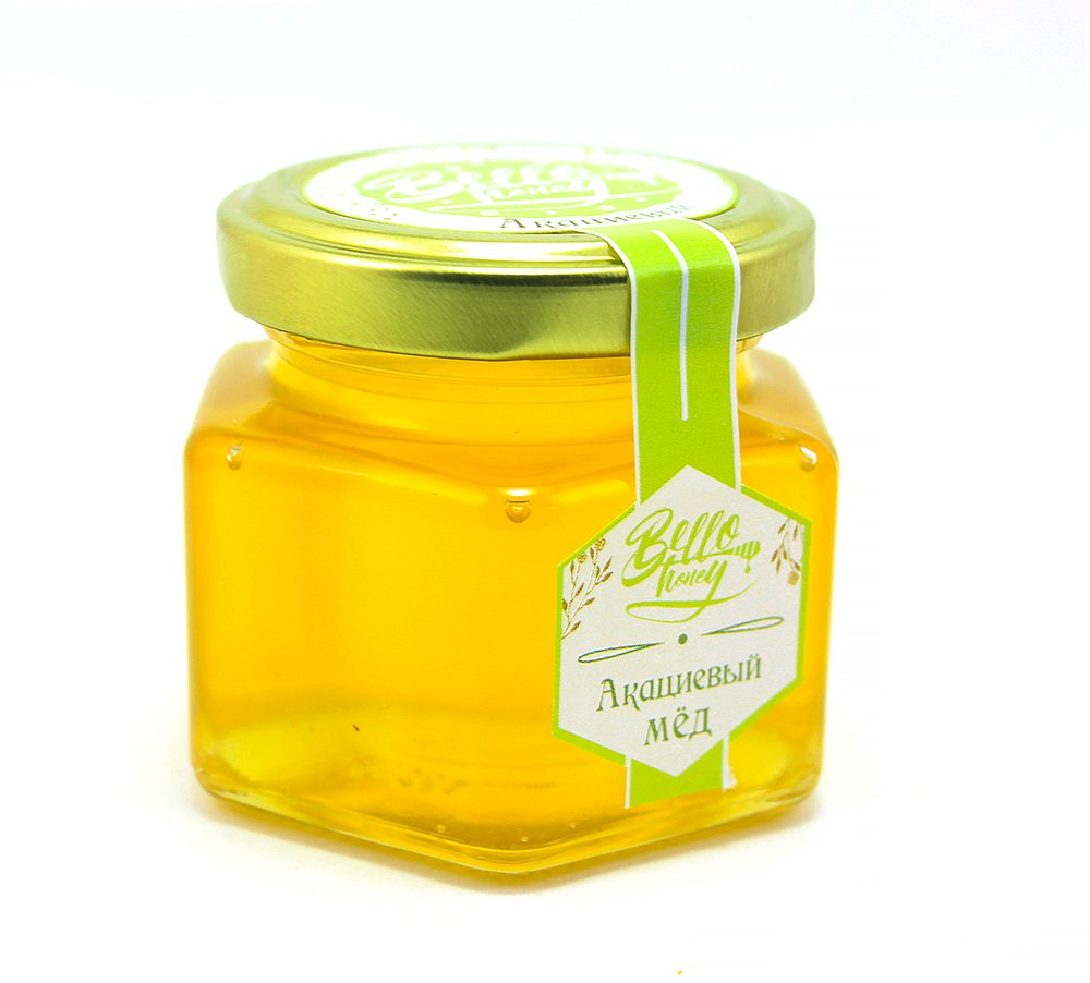 Мёд акациевый, 120 мл, BelloHoney фото