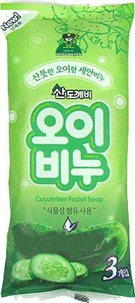 Туалетное мыло «Огуречное», 3 шт по 90 гр, Sandokkaebi фото