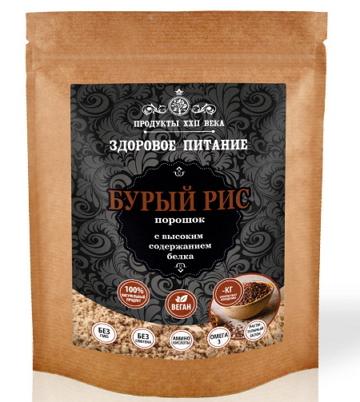 Рис бурый, порошок с высоким содержанием белка, 200 гр, Продукты XXII века фото