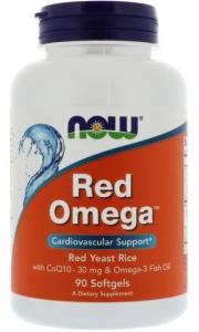 Красная Омега, 90 капсул, NOW - купить по выгодной цене в интернет магазине ФитоМаркет