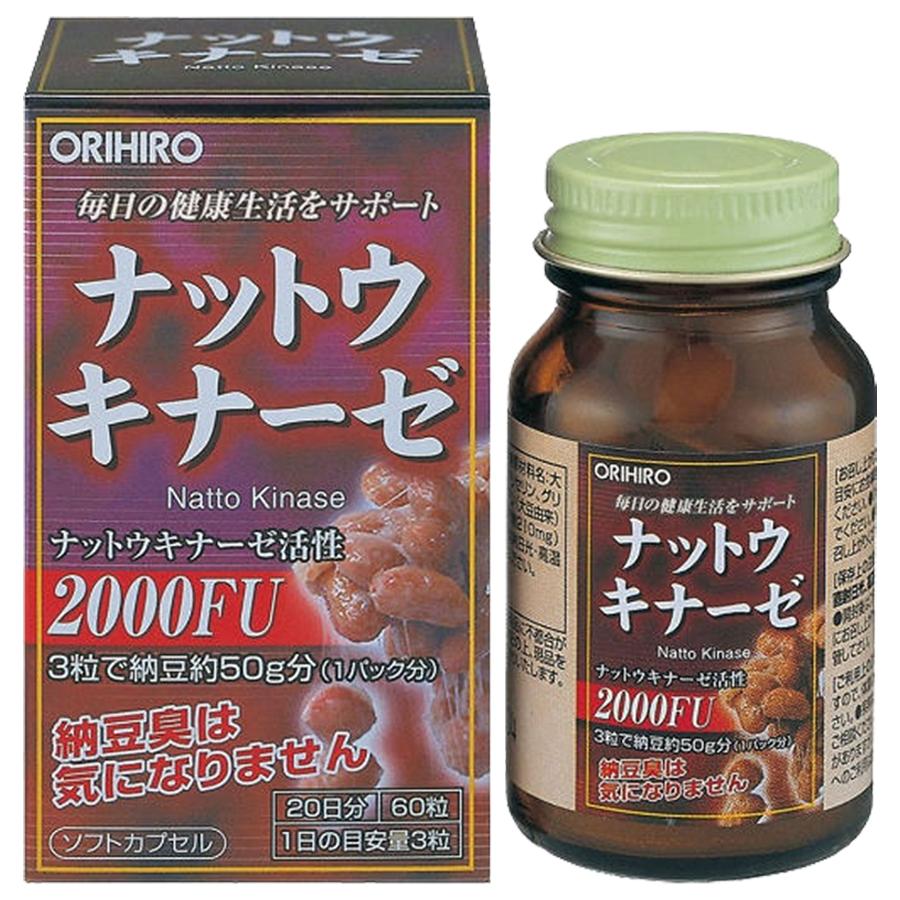 Натто Киназа 2000 FU, 60 таблеток, ORIHIRO