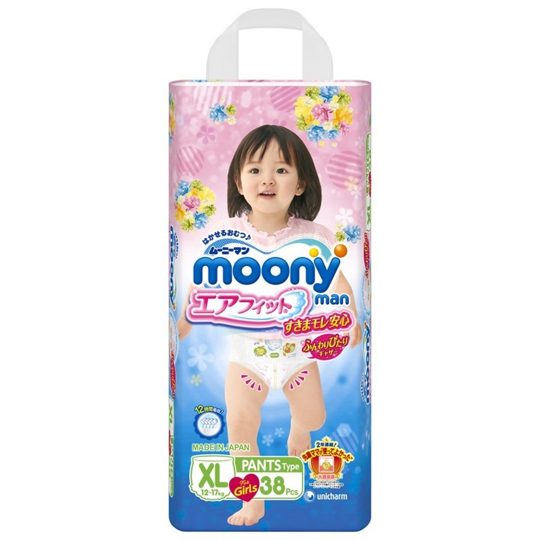 Трусики-подгузники BIG GIRL (12-17 кг), 38 шт, MOONY фото