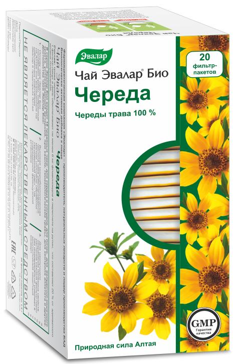Чай Эвалар БИО череда, 20 фильтр-пакетов фото