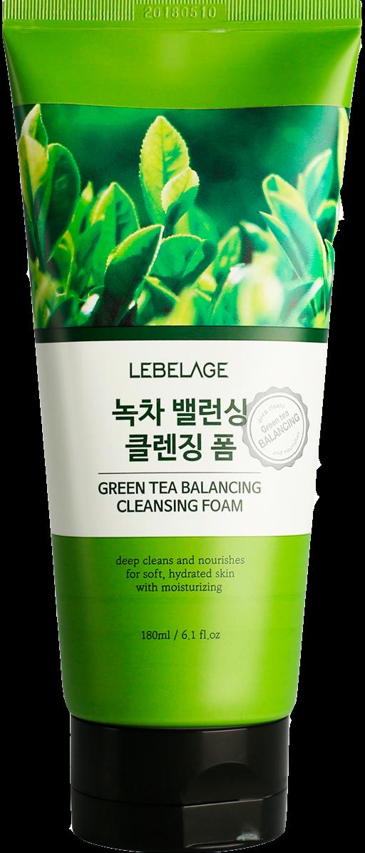 Балансирующая пенка для умывания с зеленым чаем, 180 мл, Lebelage