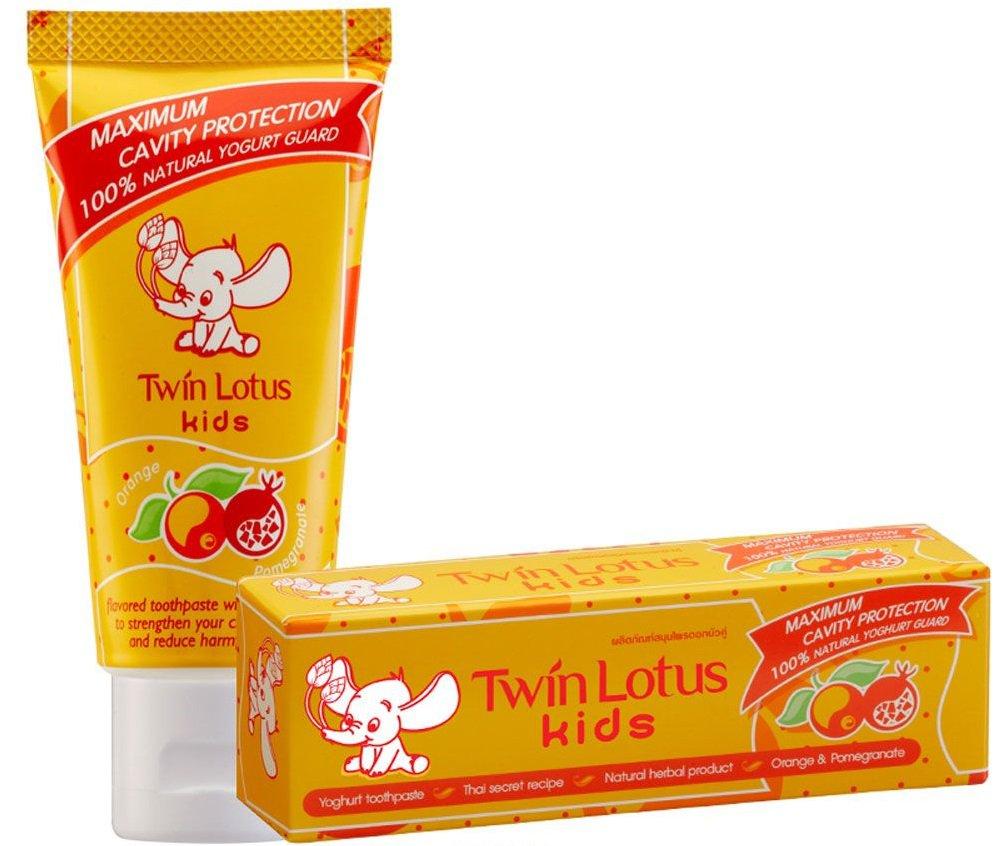 Детская зубная паста «Апельсин и гранат», 50 гр, Twin Lotus фото
