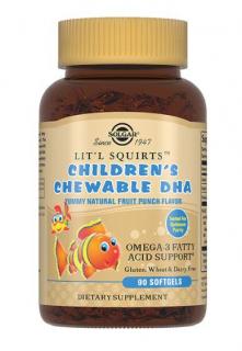 «Золотые рыбки» для детей, 90 жевательных таблеток, Solgar