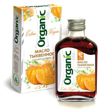 Масло пищевое нерафинированное тыквенное, 100 мл, Organic Life