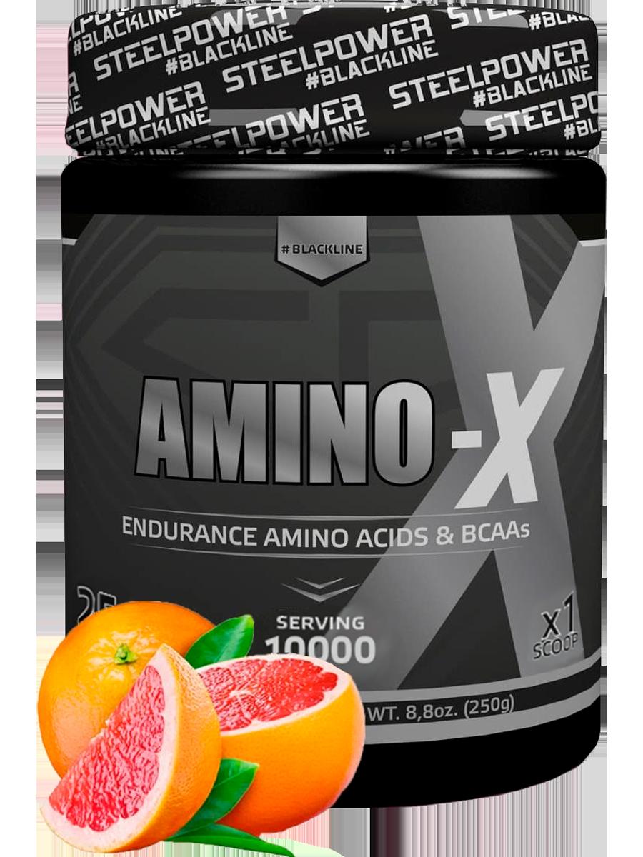 Аминокислотный комплекс AMINO-X, вкус Грейпфрут, 250 гр, STEELPOWER