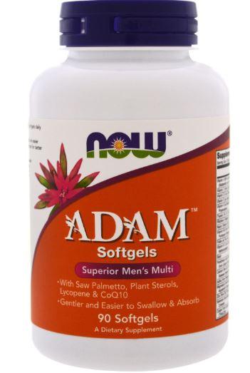 Адам 2100 мг, 90 таблеток, NOW фото