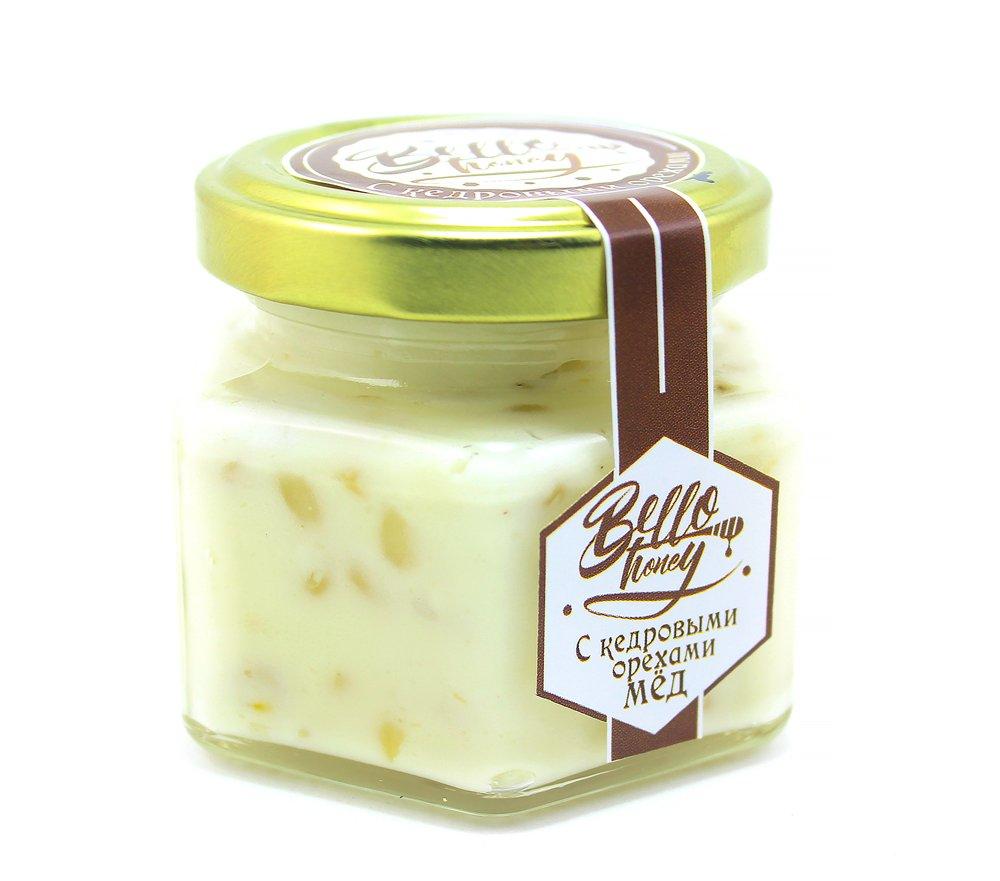 Крем-мёд с кедровыми орехами, 120 мл, BelloHoney фото