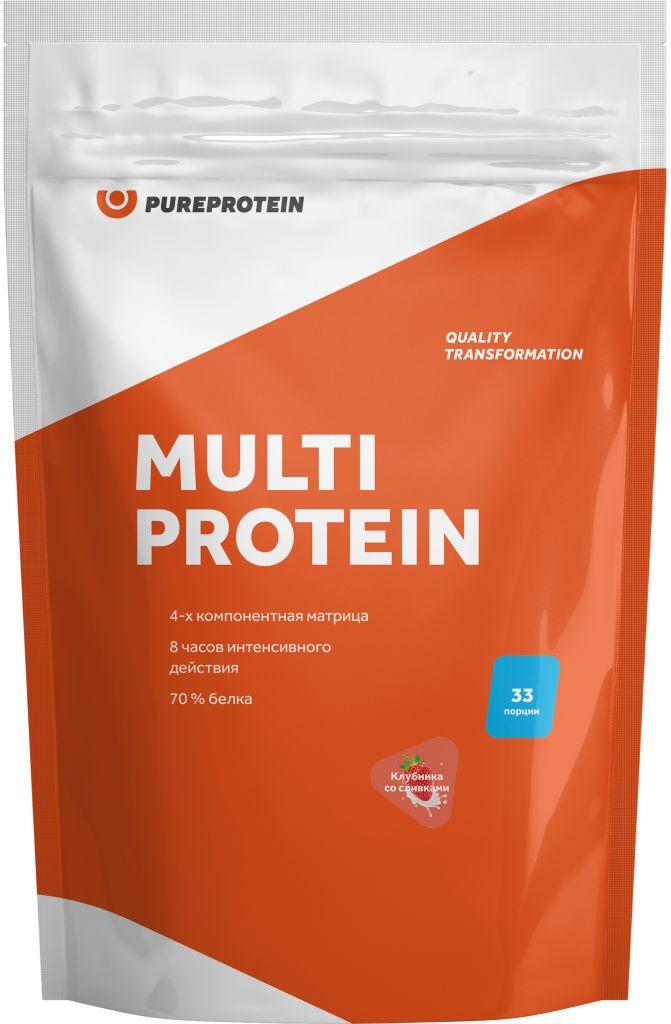 Мультикомпонентный протеин «Сливочная карамель», 1 кг, PureProtein фото