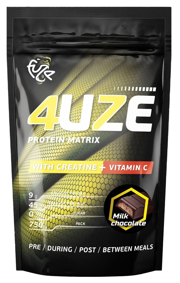 Протеин «Фьюз 47% + креатин», вкус «Молочный шоколад», 750 гр, 4UZE фото