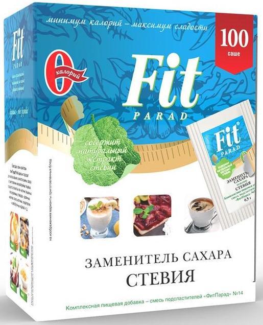 Сахарозаменитель №14, пакет-саше, 50 гр, Fit Parad фото
