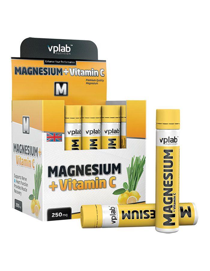 Магний и витамин С, вкус «Лемонграсс», 20 ампул по 25 мл, VPLab фото