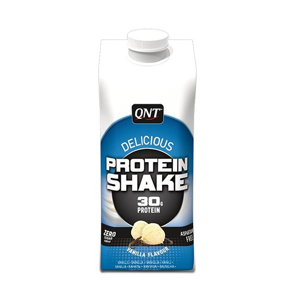 Коктейль сывороточного протеина (ваниль), 330 мл, QNT фото