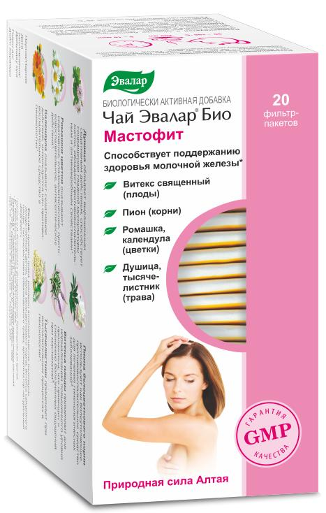 Чай Эвалар БИО Мастофит, 20 фильтр-пакетов