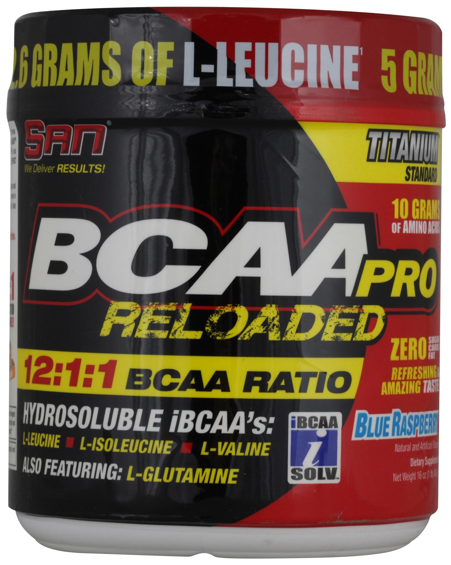 BCAA-Pro Reloaded, вкус черника, 456 гр, SAN