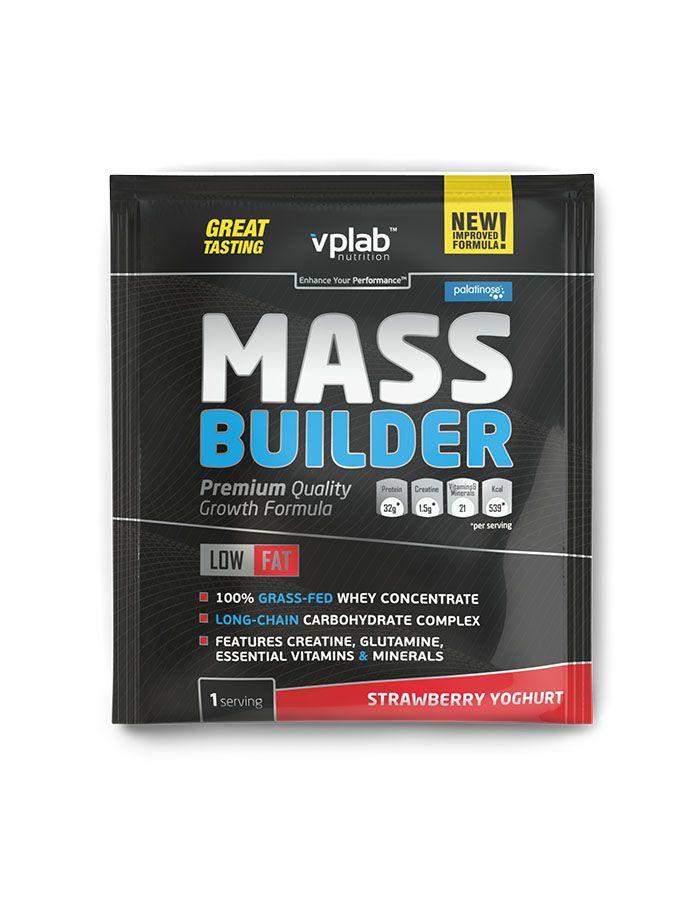 Гейнер Mass Builder, вкус «Йогурт с клубникой», саше 100 гр, VPLab фото