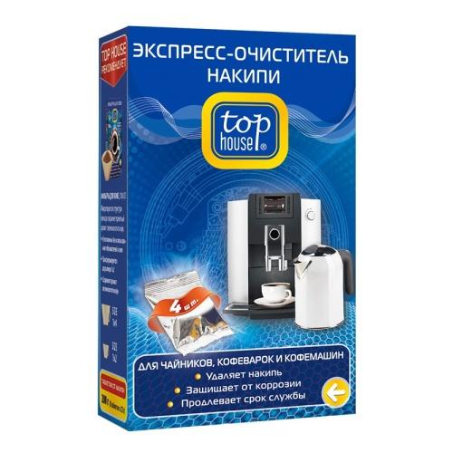 Экспресс-очиститель накипи для чайников, кофеварок и кофемашин, 4 шт. х 50 г, TOP HOUSE фото