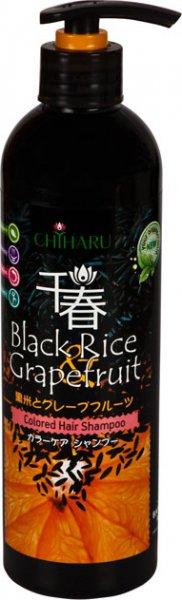 Шампунь увлажняющий для окрашенных волос  Черный рис и грейпфрут, 500 мл, CHIHARU